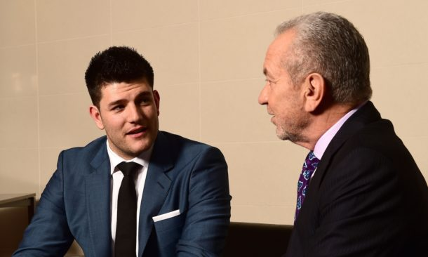 Mark Wright (Apprentice winner) and Lord Sugar