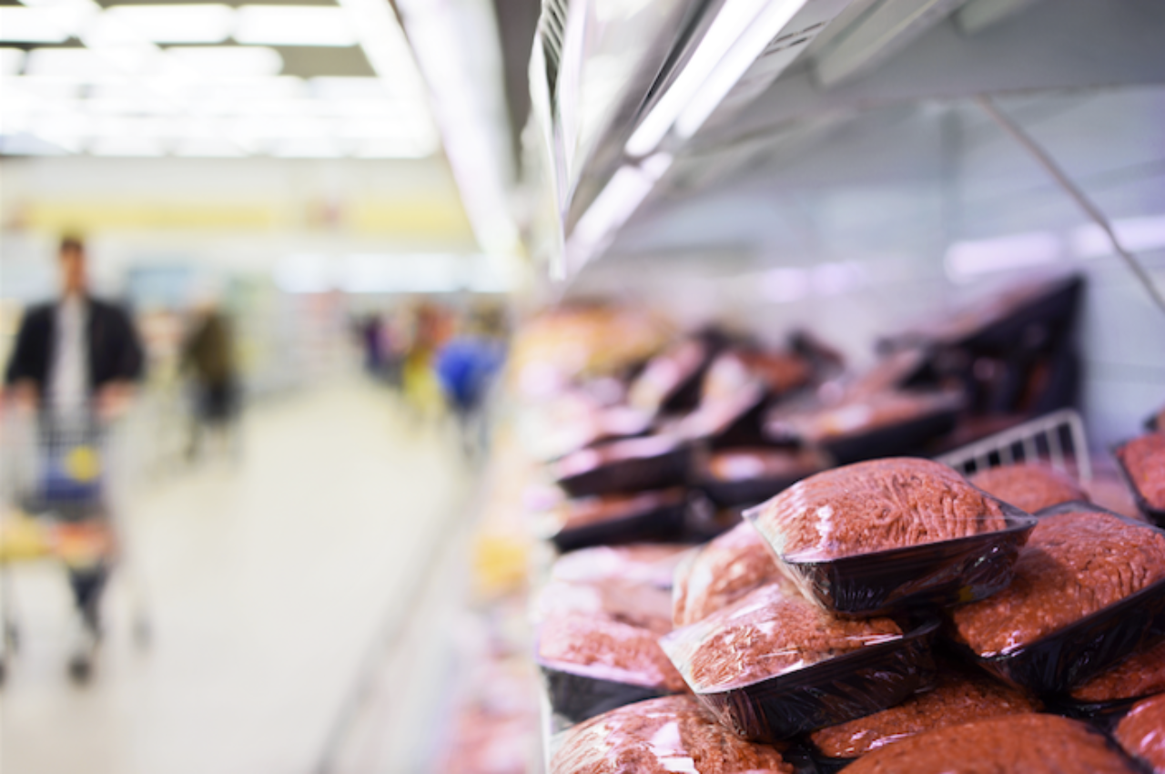 A stock image of supermarket meat