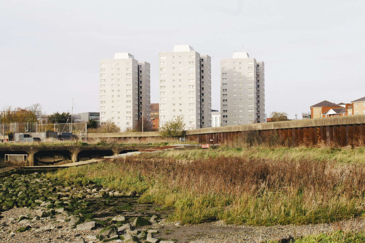 Three local authority tower blocks in Thurrock, Essex