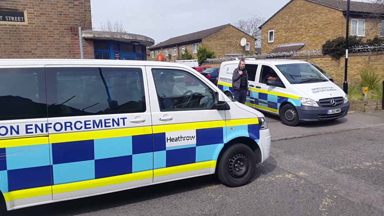 Immigration enforcement vans